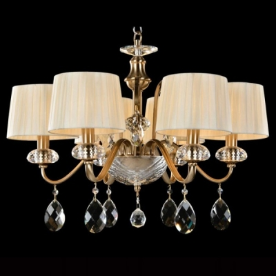 Подвесная люстра Newport 1706/C Bronze Clear crystal Shade beige